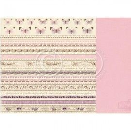 Papel Scrapbooking. Colección: My Precious Daughter. Borders. 30, 5 x 30,5 cm. Pion Design