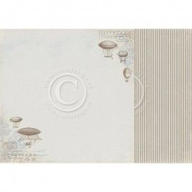 Papel Scrapbooking. Colección: My Beloved Son. Albin´s zeppelins. 30, 5 x 30,5 cm. Pion Design