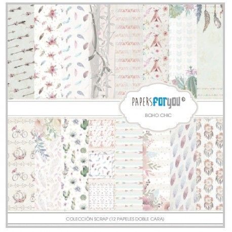 Colección Scrapbooking Papers for you. Boho Chic