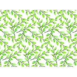 Papel entelado. PFY. Green Leaves. 100 x 70 cm