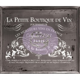 Petit Vin wide Transfer, calcomania Iron Orchid Design with Prima