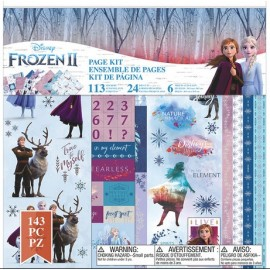 Frozen II. Disney. Kit decoraciones y pegatinas. 143 pzs.